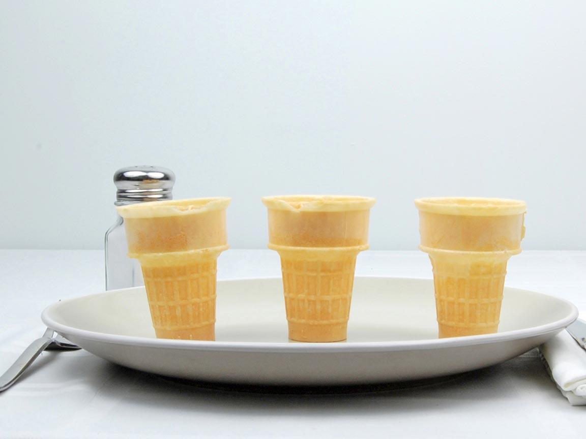Calories in 3 cone(s) of Cake Ice Cream Cone