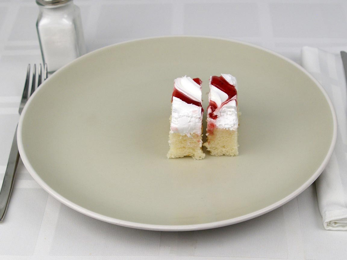 Calories in 0.5 piece(s) of Cake - White Raspberry