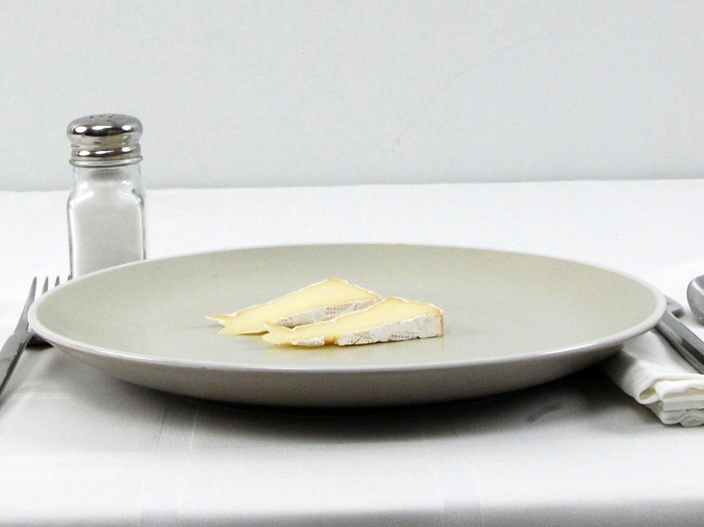 Calories in 28 grams of Camembert Cheese