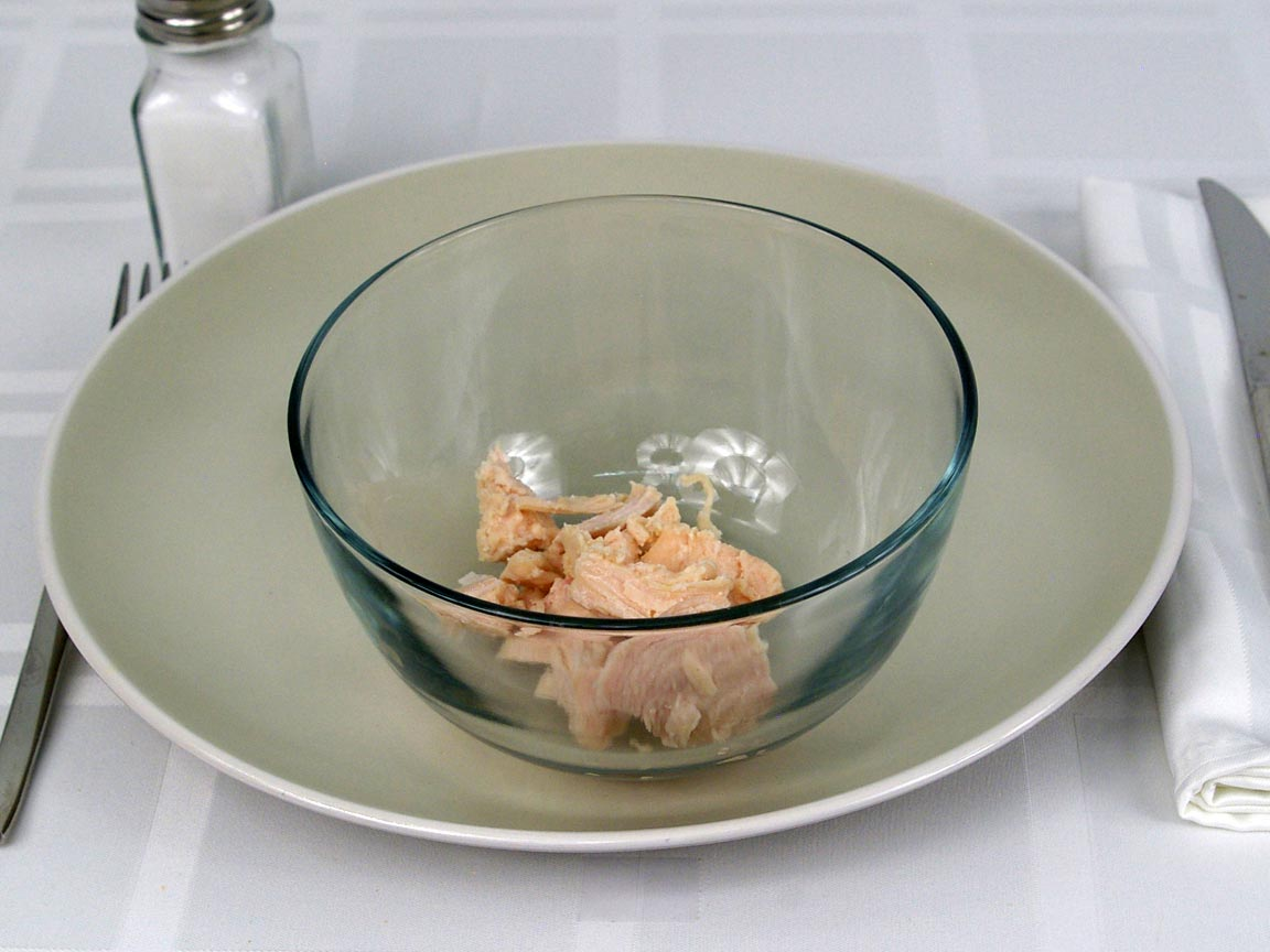 Calories in 56 grams of Chicken Breast - Canned in water