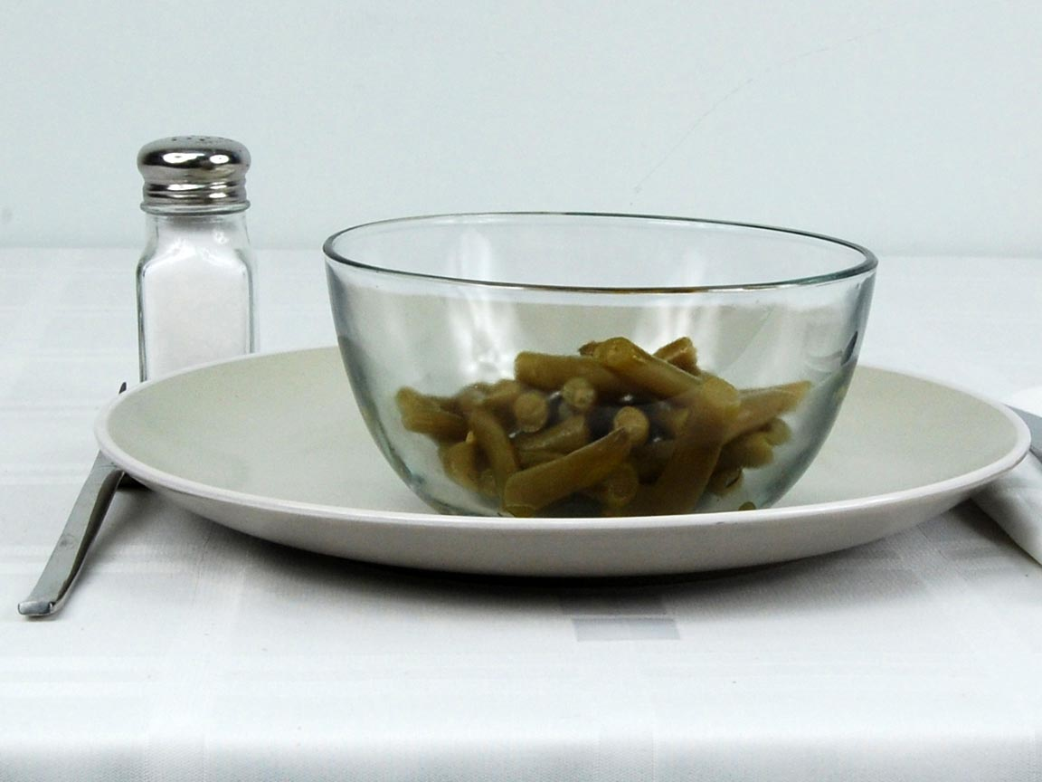 Calories in 0.75 cup(s) of Green Beans - Canned