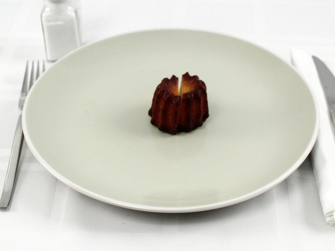 Calories in 1 cannele(s) of Canneles de Bordeaux