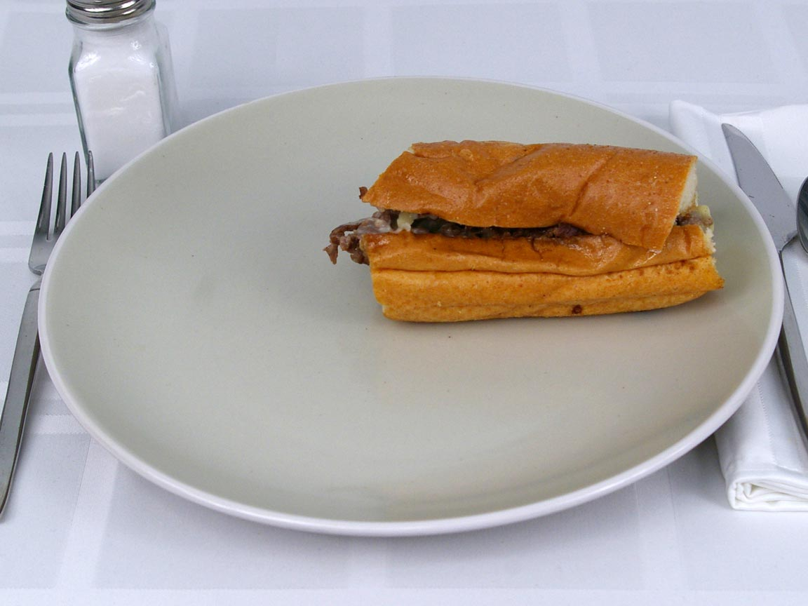 Calories in 0.5 Sandwich of Capriotti's Cheese Steak Sandwich