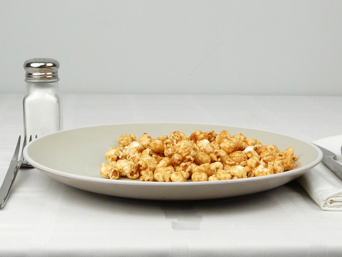 Calories in 42 grams of Caramel Popcorn