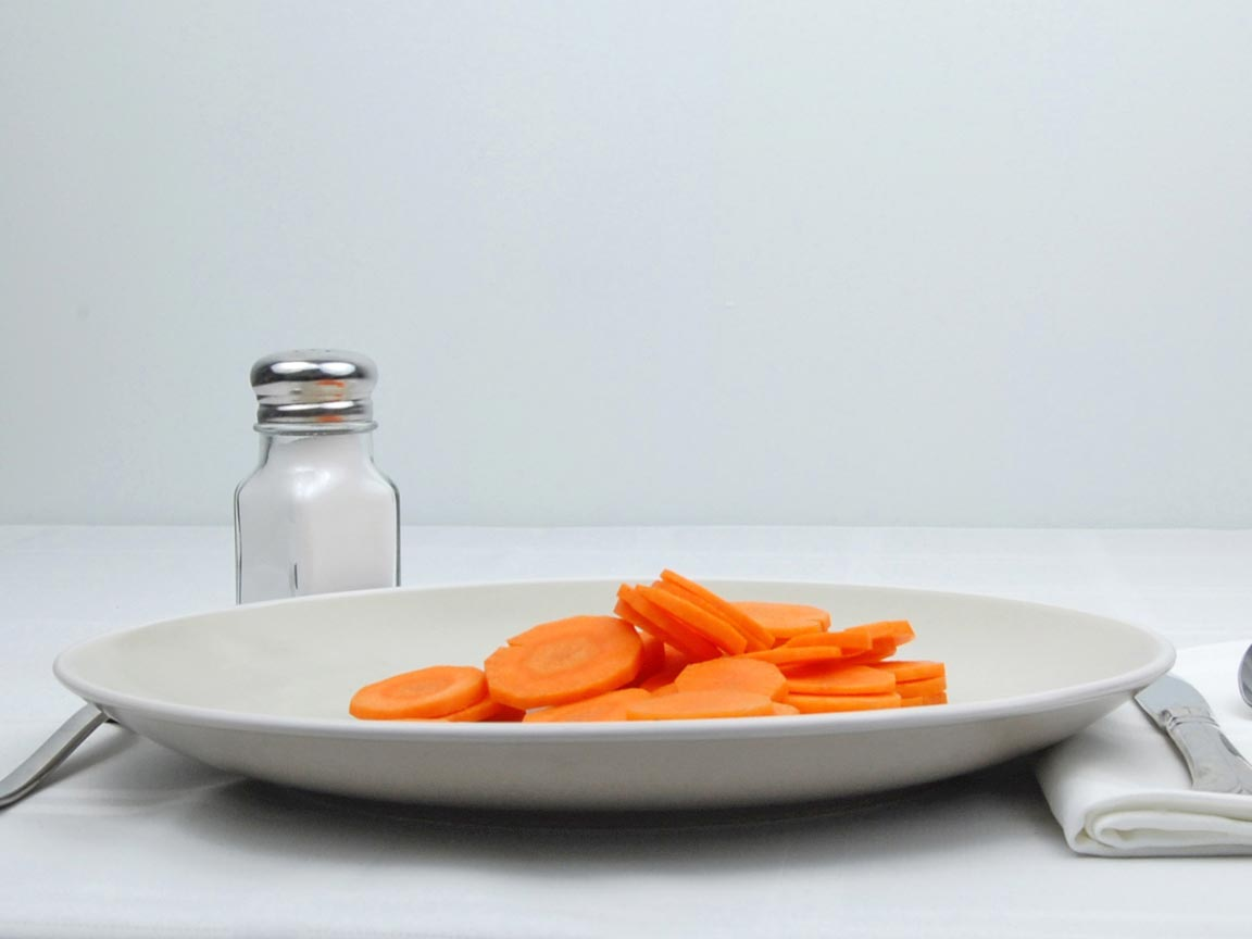 Calories in 1 cup(s) of Carrots - Sliced