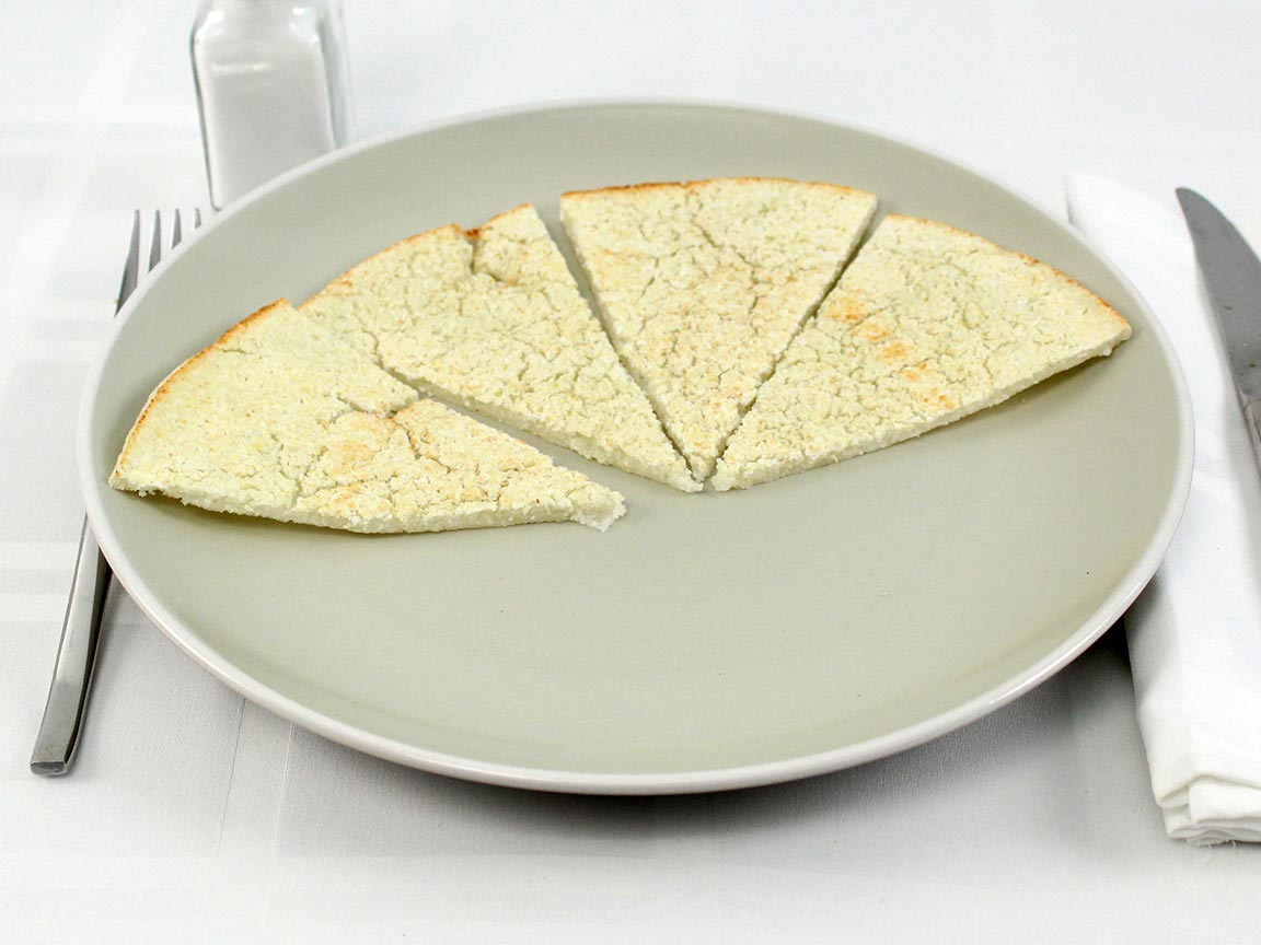 Calories in 4 piece(s) of Cauliflower Pizza Crust