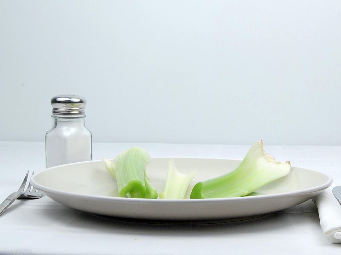 Calories in 4 stalk(s) of Celery - Stalks