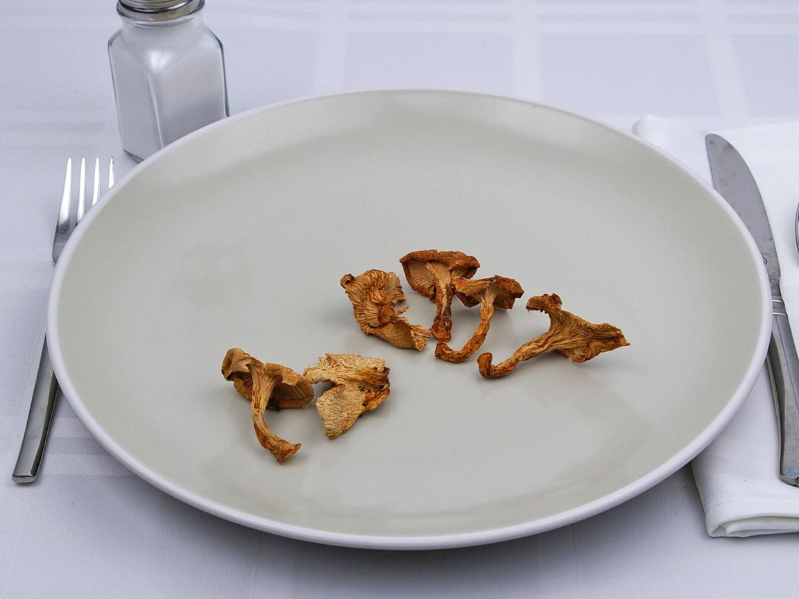 Calories in 6 pieces of Chanterelle Mushrooms - Dried