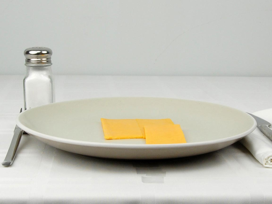 Calories in 1.5 slice(s) of Cheddar Slices