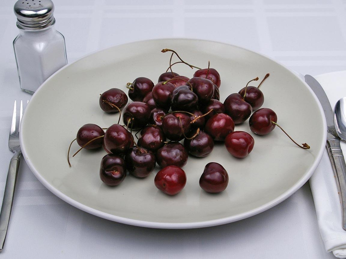 Calories in 32 cherrie(s) of Cherries