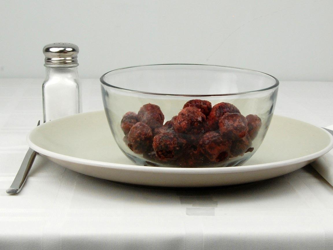 Calories in 1 cup(s) of Cherries - Frozen