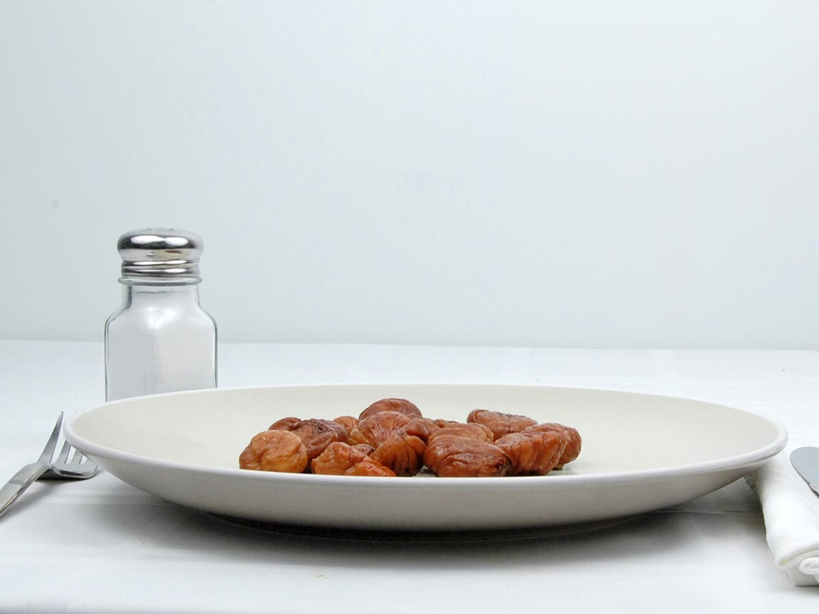 Calories in 16 piece(s) of Chestnuts
