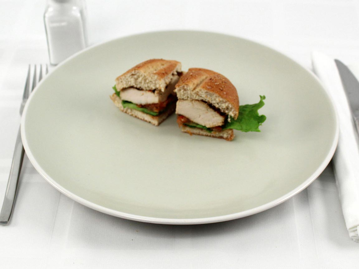 Calories in 0.5 sandwich(s) of Chick-fil-A Grilled Chicken Sandwich