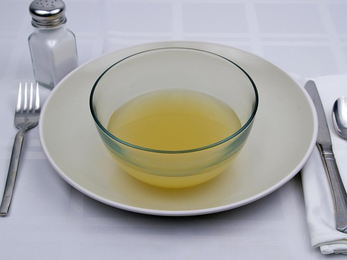Calories in 1 cup(s) of Chicken Consomme Soup - Canned