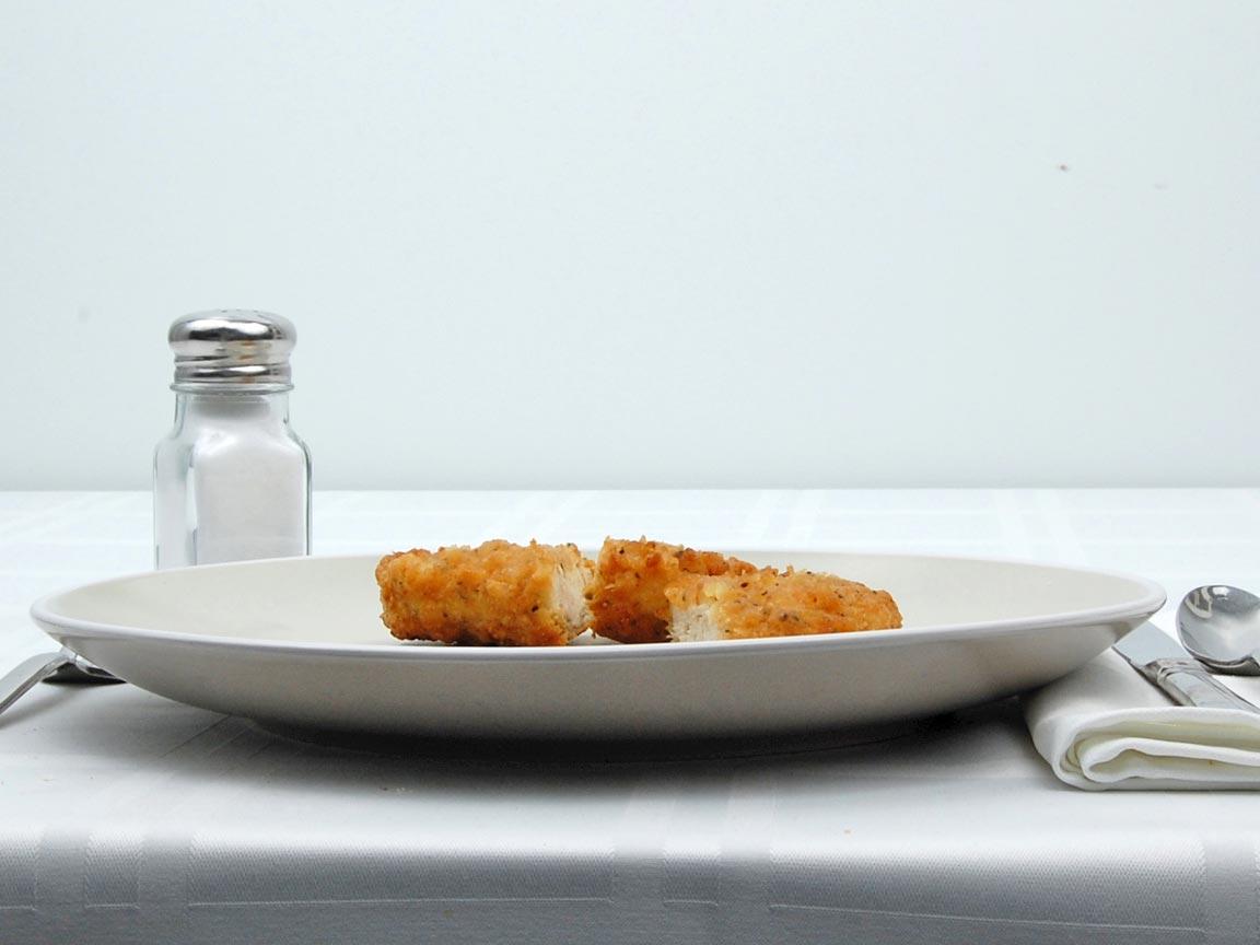 Calories in 1.5 pattie(s) of Country Fried Steak Chicken Patties