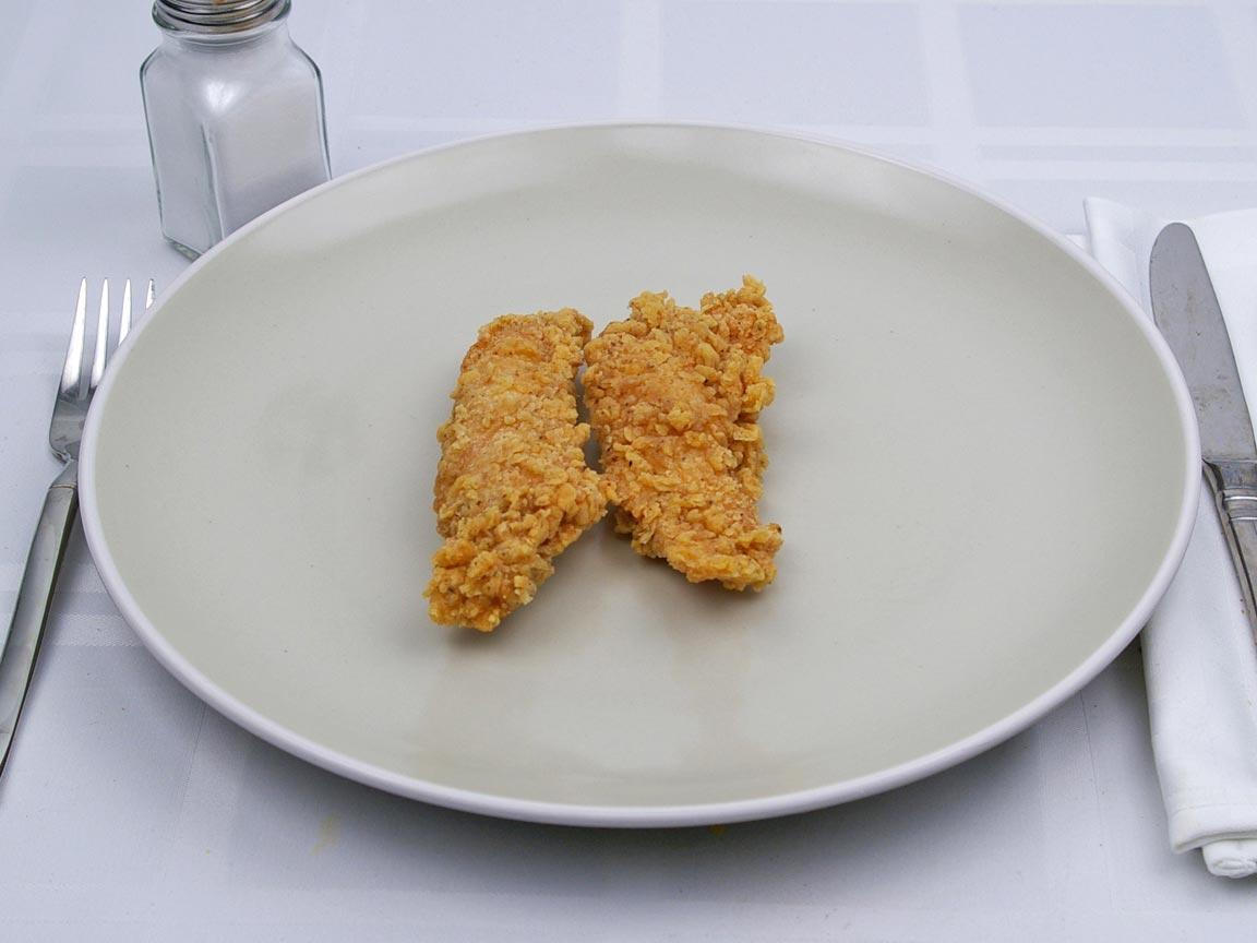 Calories in 2 piece(s) of Kentucky Fried Chicken - Extra Crispy Tenders