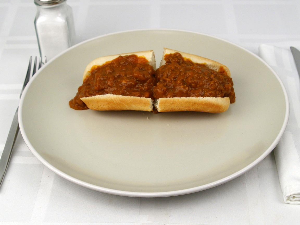 Calories in 1 chili dog(s) of Chili Dog