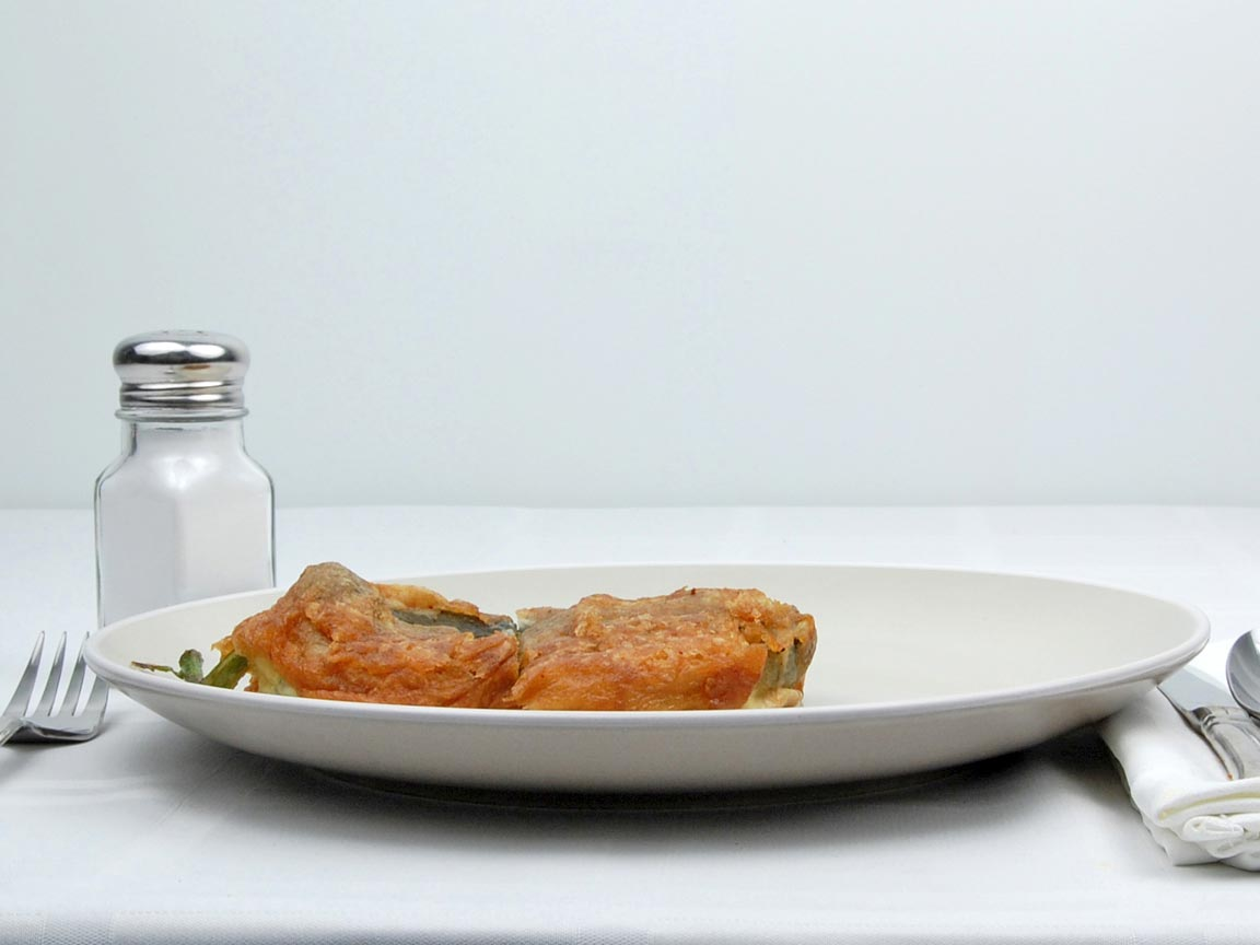 Calories in 1 chile(s) of Chile Relleno