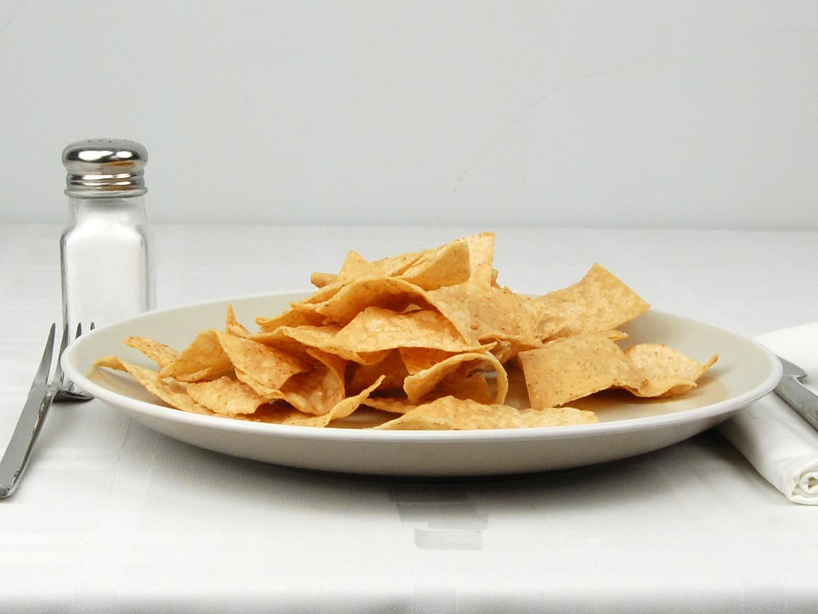 Calories in 70 grams of Chipotle Tortilla Chips