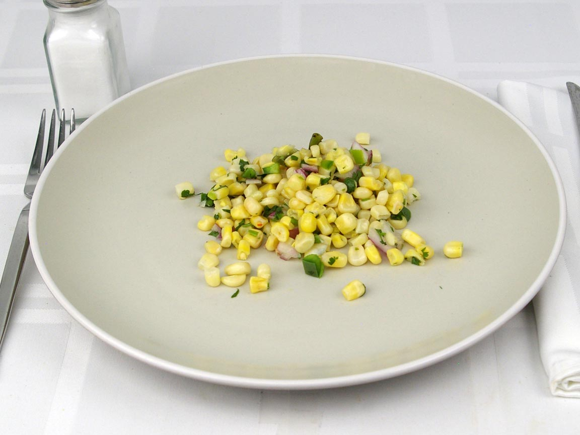 Calories in 78 grams of Chipotle Corn Salsa