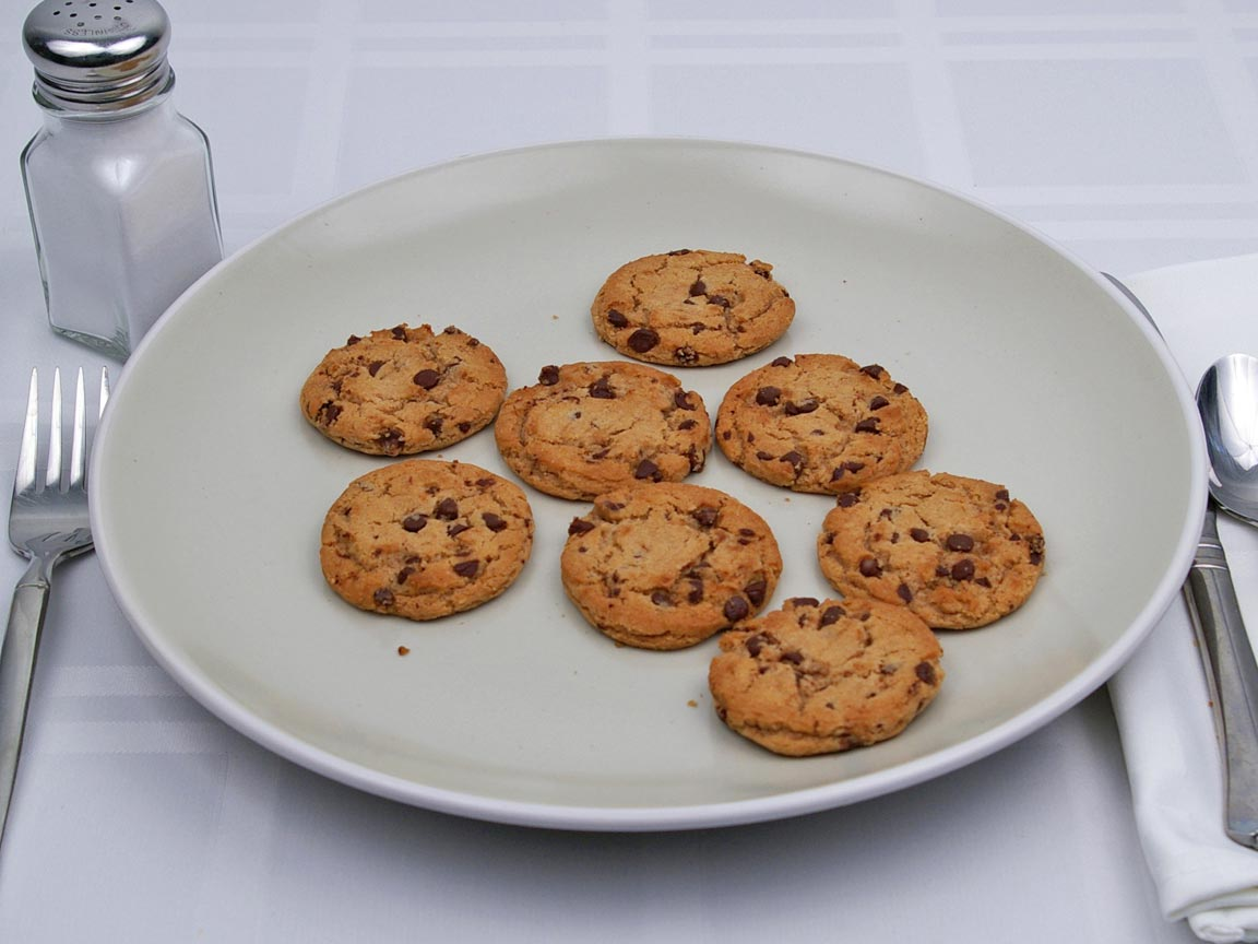 Calories in 8 cookie(s) of Chocolate Chip Cookie - Sugar Free