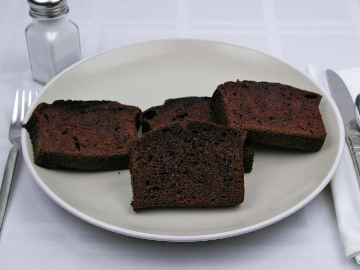 Calories in 4 slice(s) of Chocolate Loaf Cake