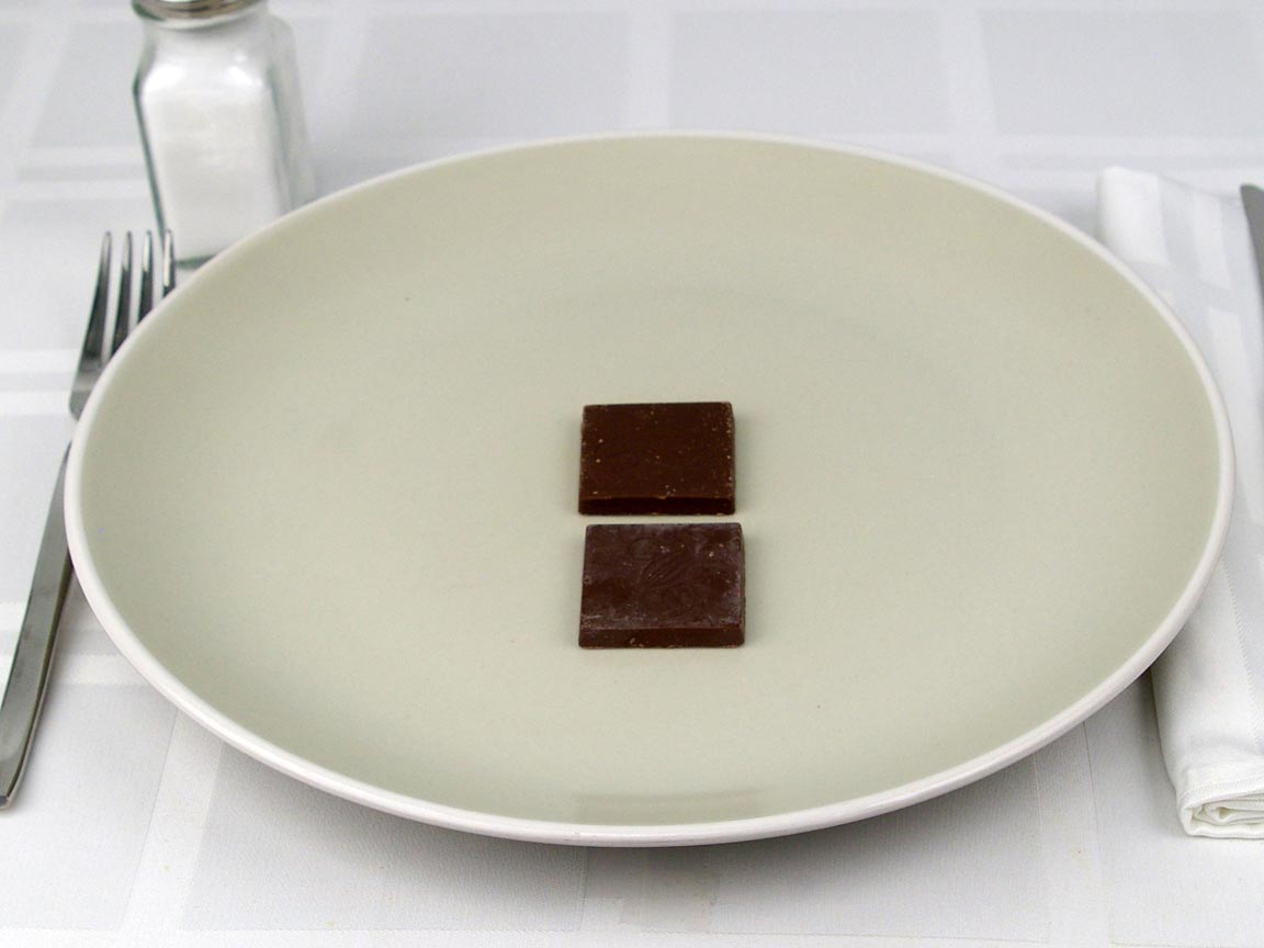 Calories in 2 piece(s) of Chocolate Square - Sugar Free