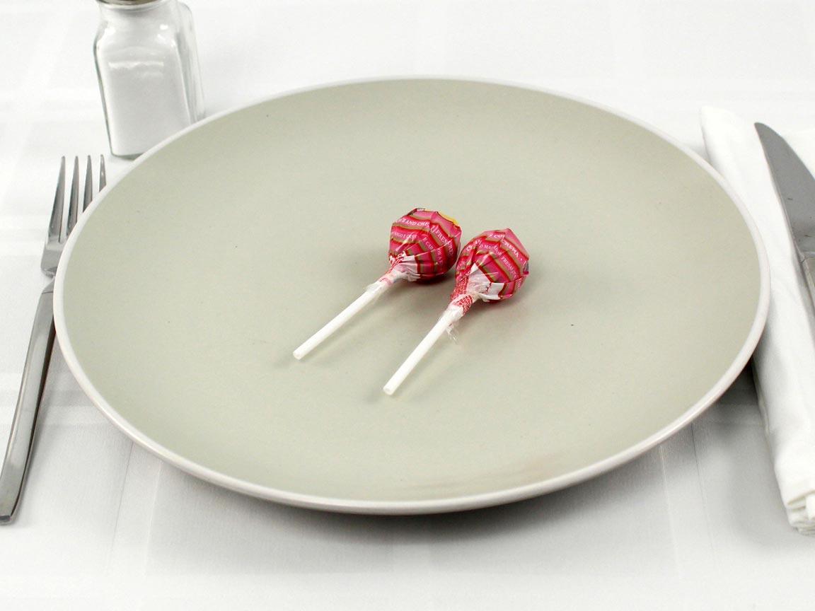 Calories in 2 lollipop(s) of Chupa Chups Lollipops