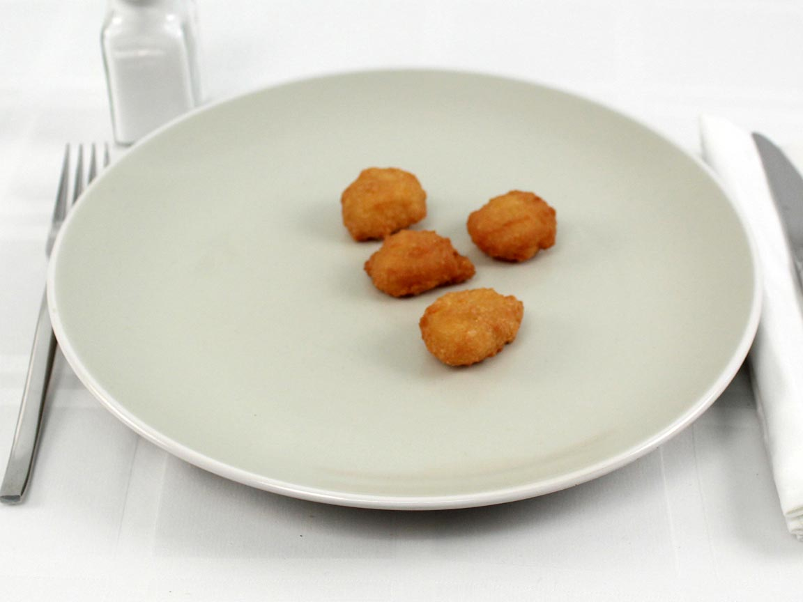 Calories in 4 piece(s) of Church's Sweet Corn Nuggets