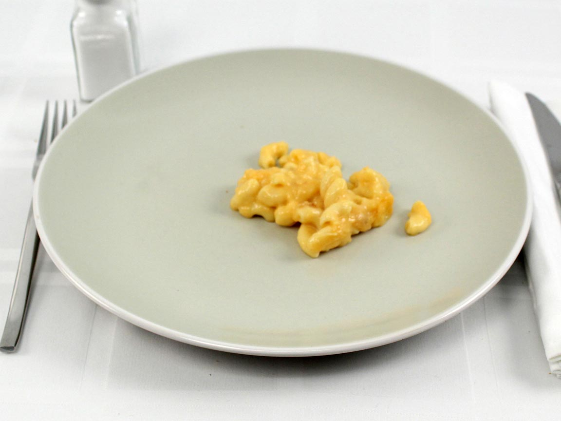 Calories in 0.52 small(s) of Church's Macaroni & Cheese