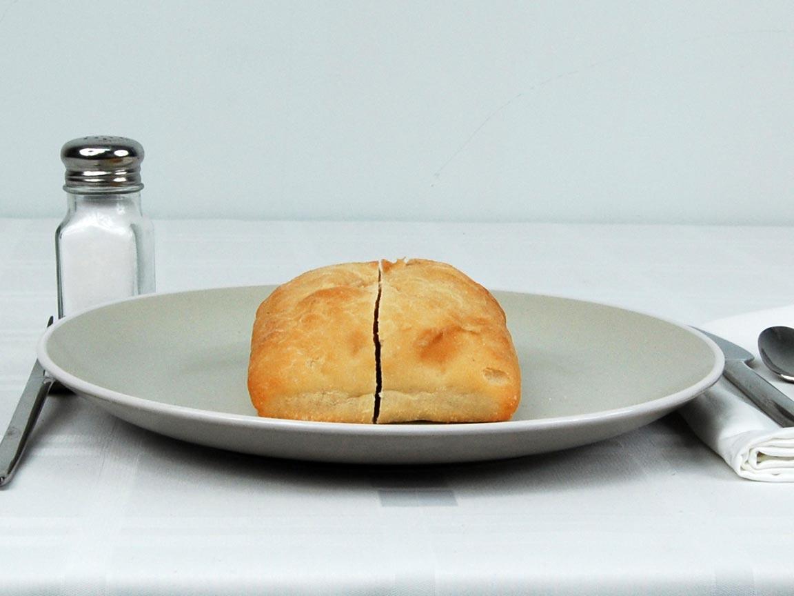 Calories in 1 ea(s) of Ciabatta Bread