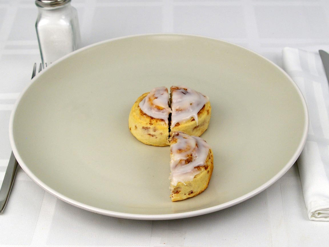 Calories in 1.5 roll(s) of Cinnamon Roll - Ready Bake