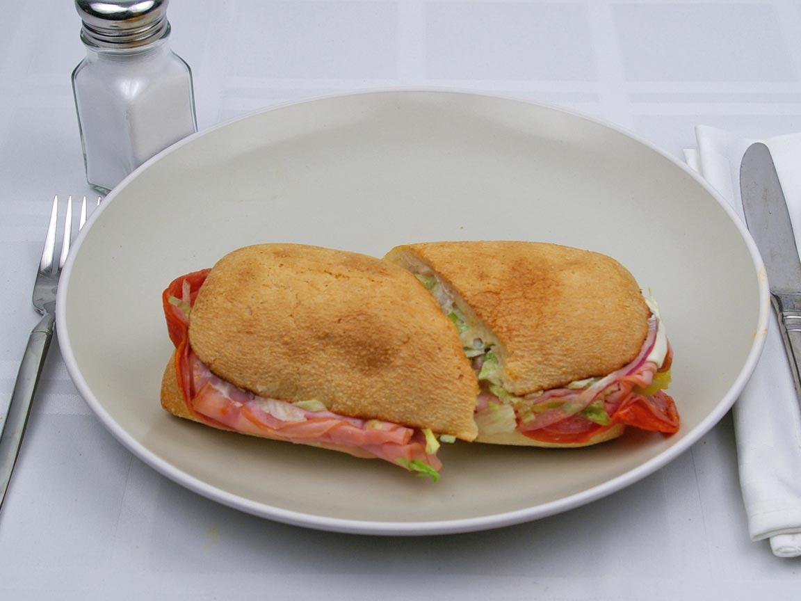 Calories in 1 sandwich(es) of Arby's  - Loaded Italian