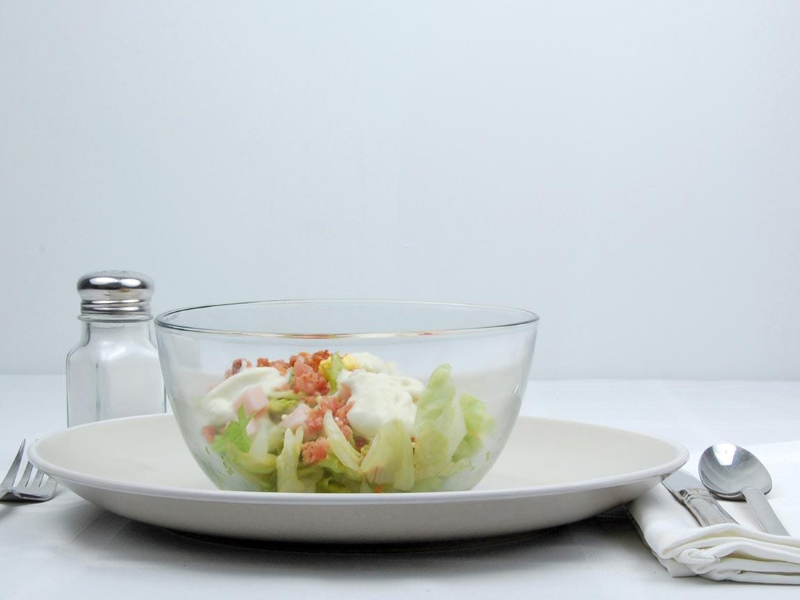 Calories in 0.5 salad of Cobb Salad