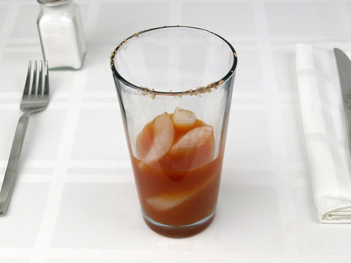 Calories in 93 grams of Bloody Mary Cocktail