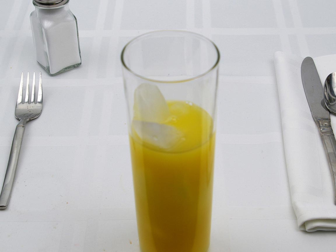 Calories in 5 fl. oz(s) of Fuzzy Navel - OJ and Peach Schnapps -Equal Amounts