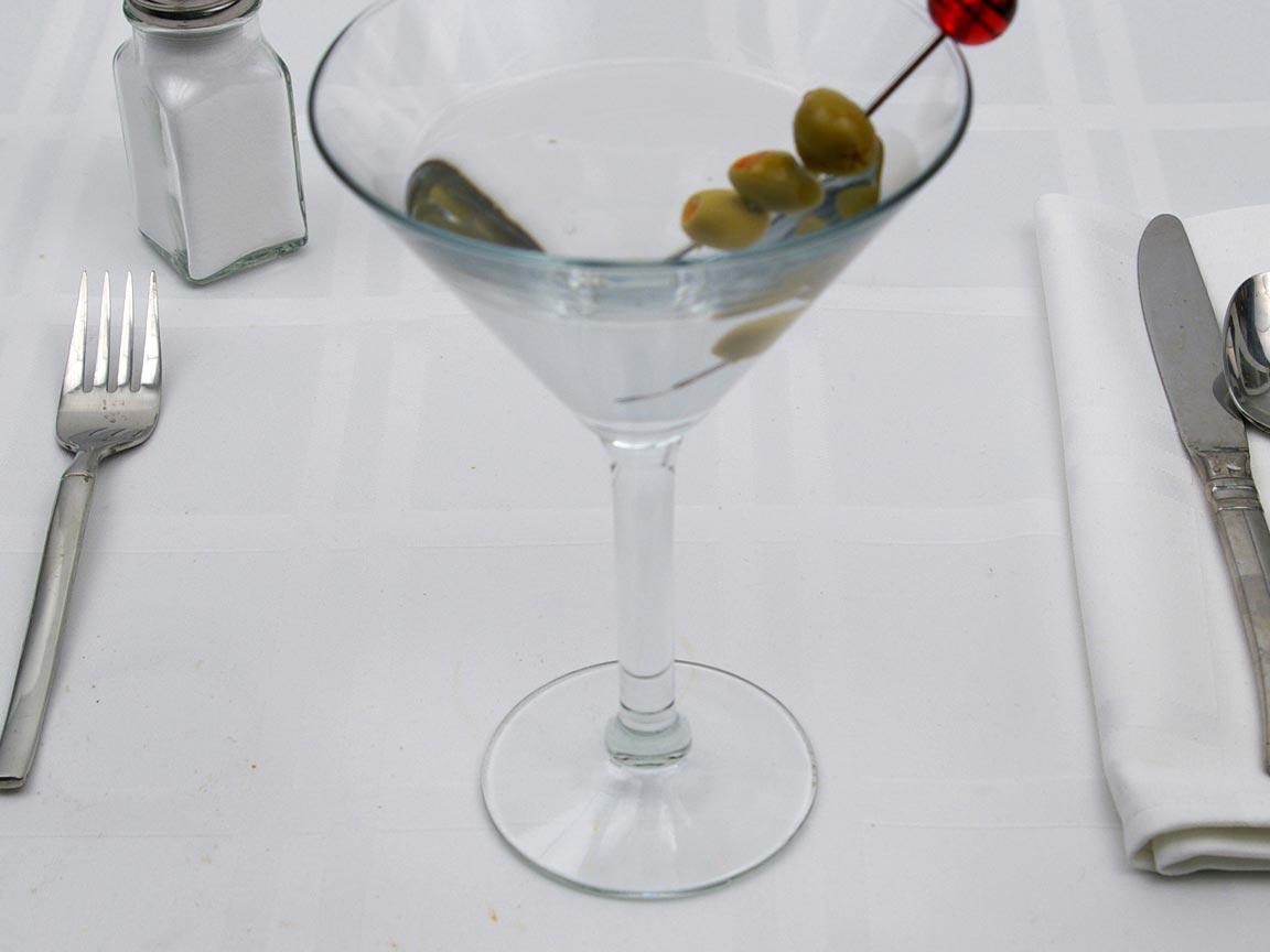 Calories in 4 fl. oz(s) of Gin Martini