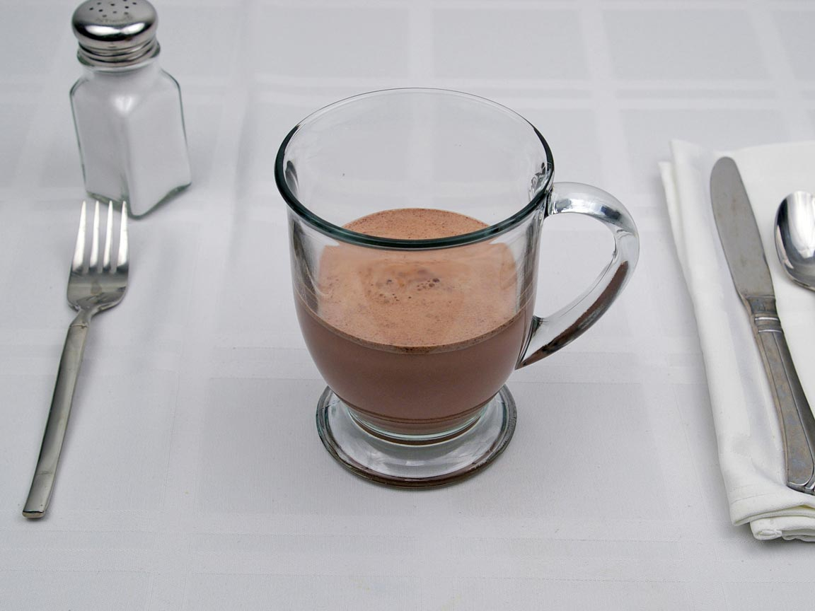 Calories in 7 fl oz(s) of Cocoa (Hot Chocolate) -  1% Milk