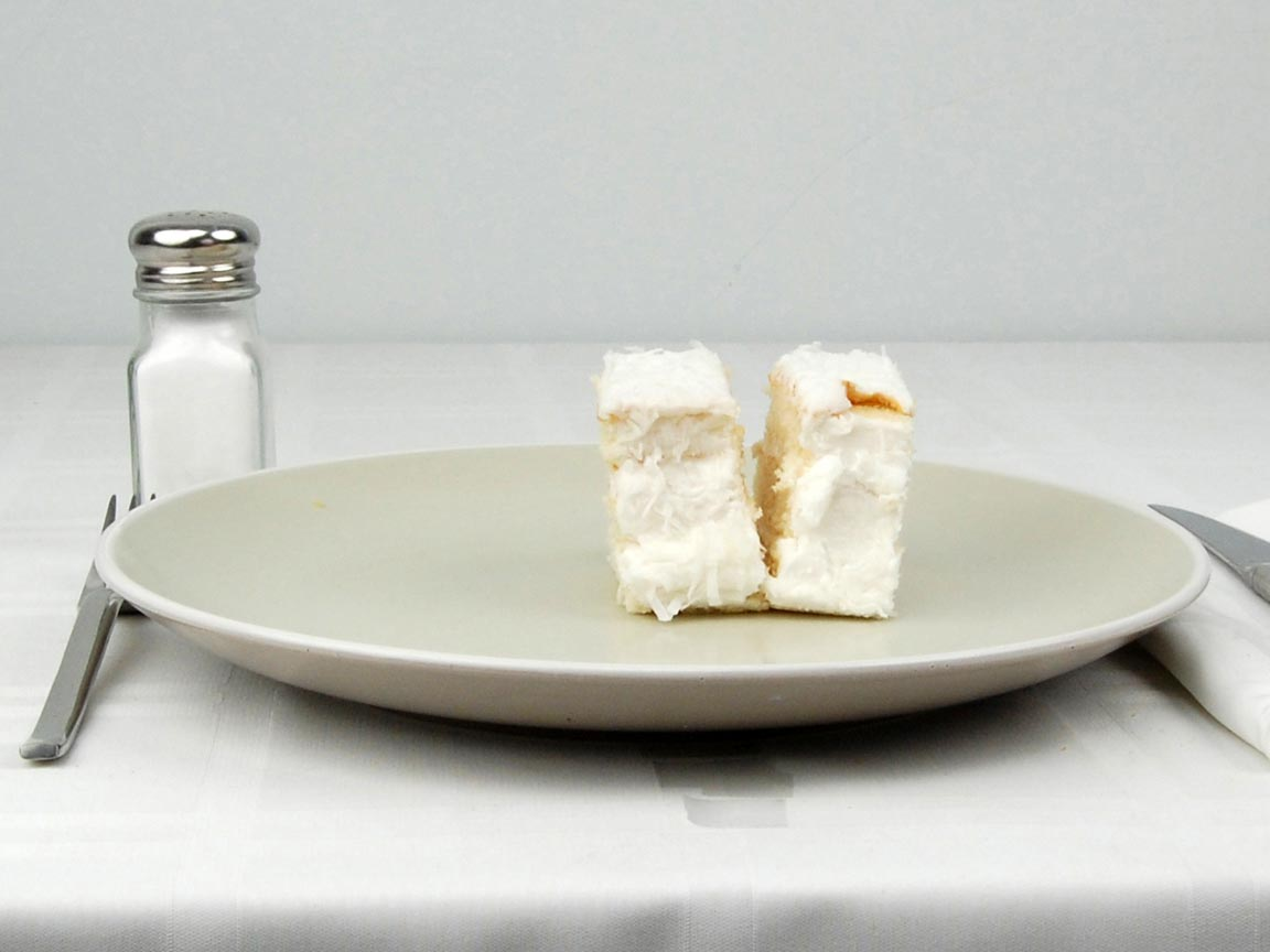 Calories in 2 piece(s) of Coconut Cake