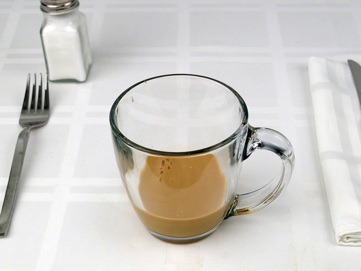 Calories in 3 fl oz(s) of Cafe Flat White - whole Milk