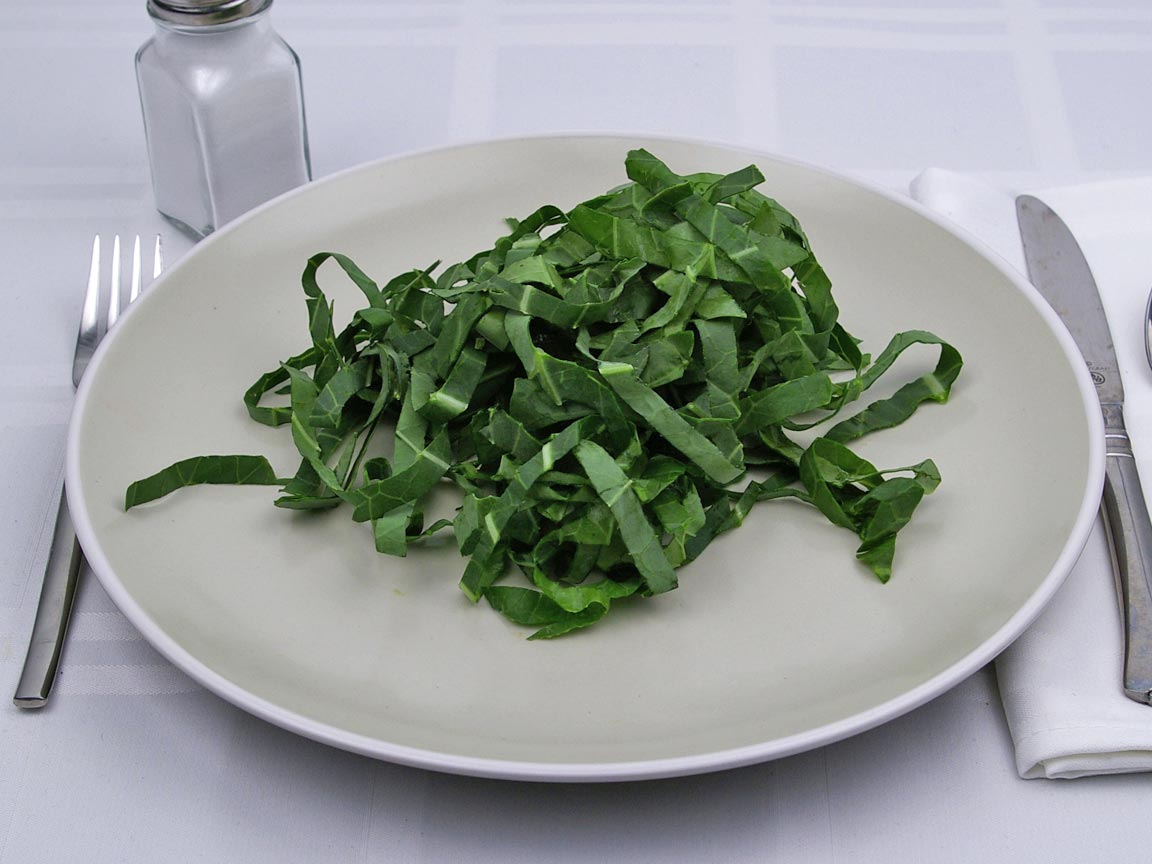 Calories in 1 cup of Collard Greens - Raw