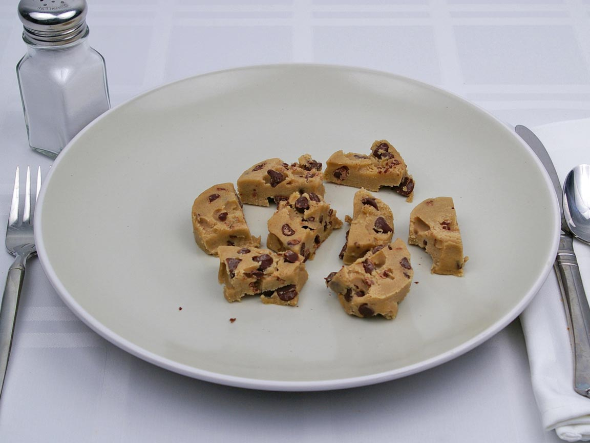 Calories in 113 grams of Unprepared Chocolate Chip Cookie Dough