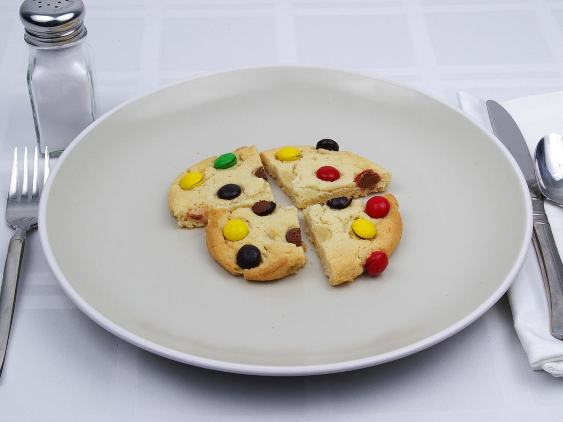Calories in 1 cookie(s) of M&M Cookies - Large
