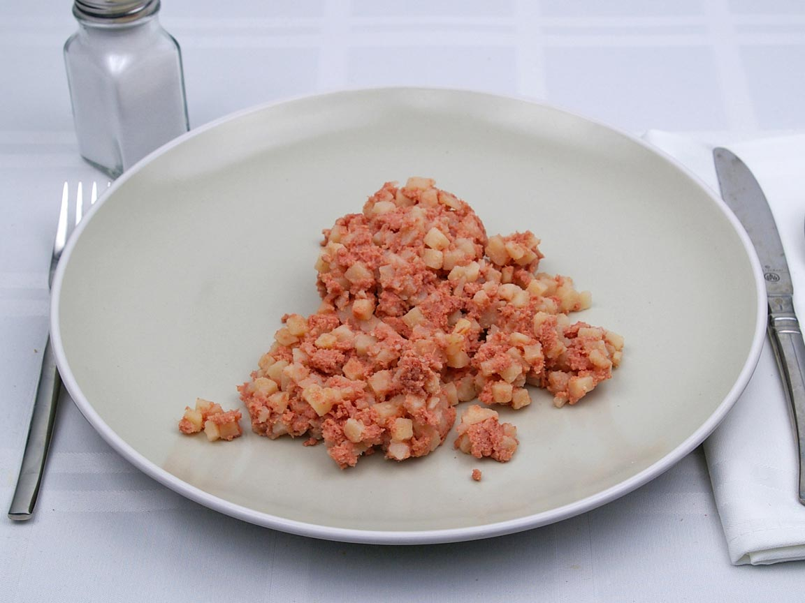Calories in 1 cup(s) of Corned Beef Hash - Canned