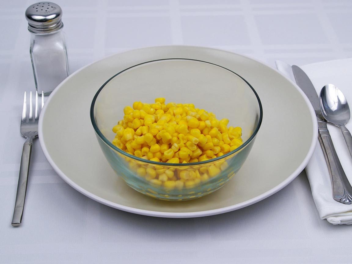 Calories in 1.5 cup(s) of Corn - Canned