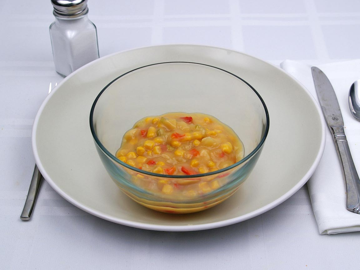 Calories in 1 cup(s) of Corn Chowder Soup