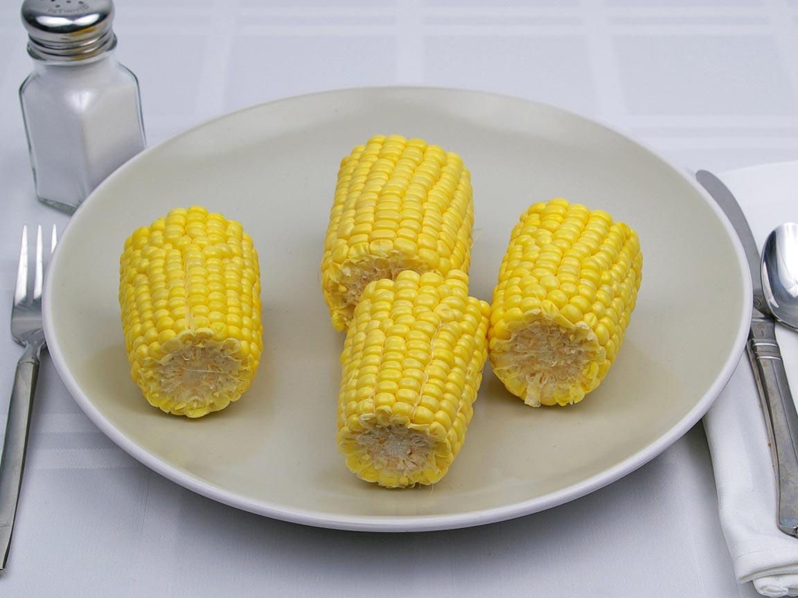 Calories in 2 ear yield of Corn - Ear