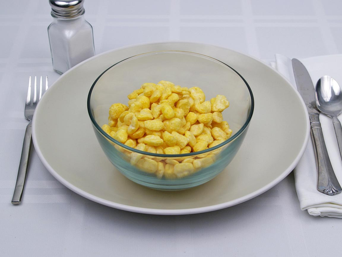 Calories in 1.5 cup(s) of Puffed Corn Cereal - Corn Pops
