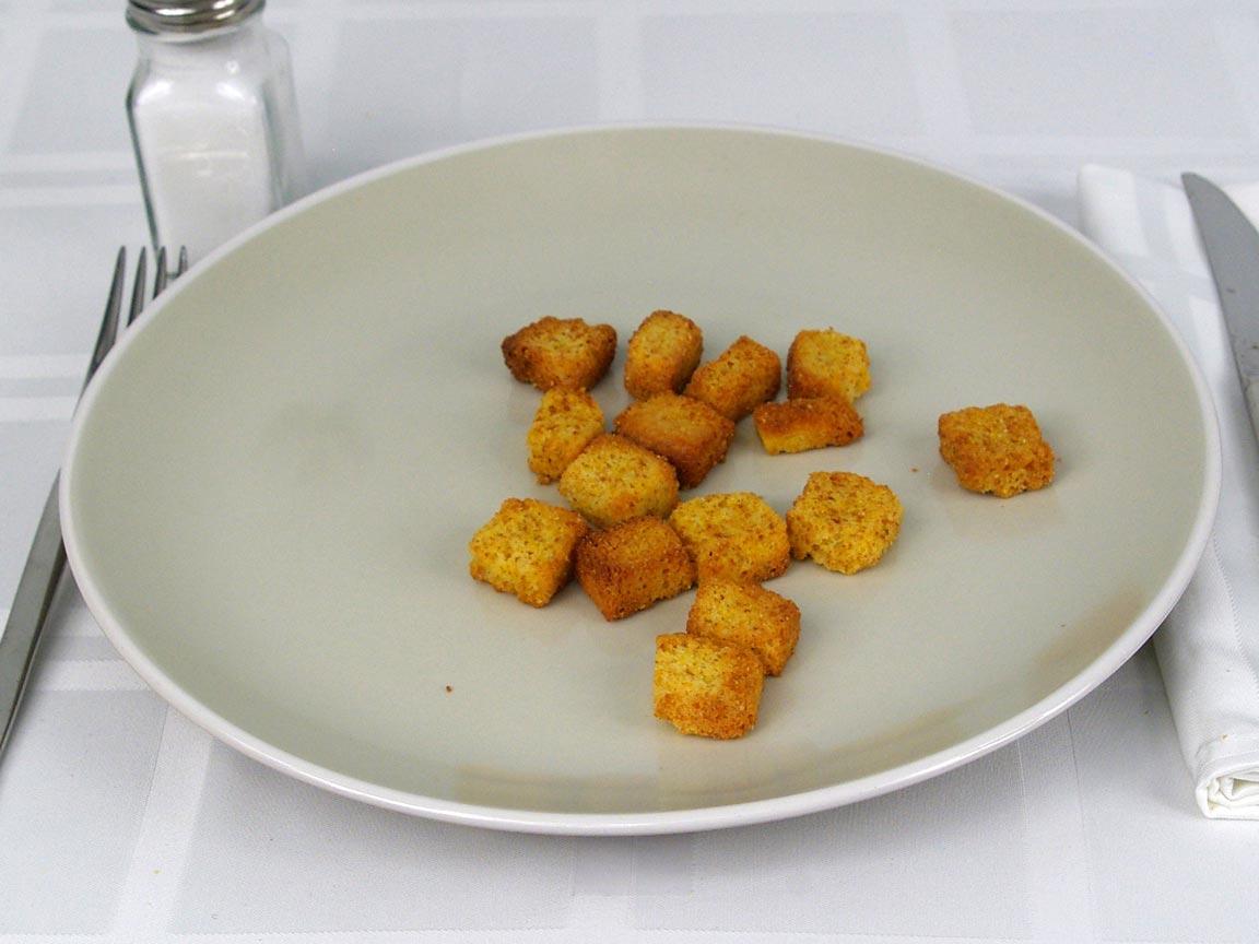 Calories in 15 ea(s) of Cornbread Croutons