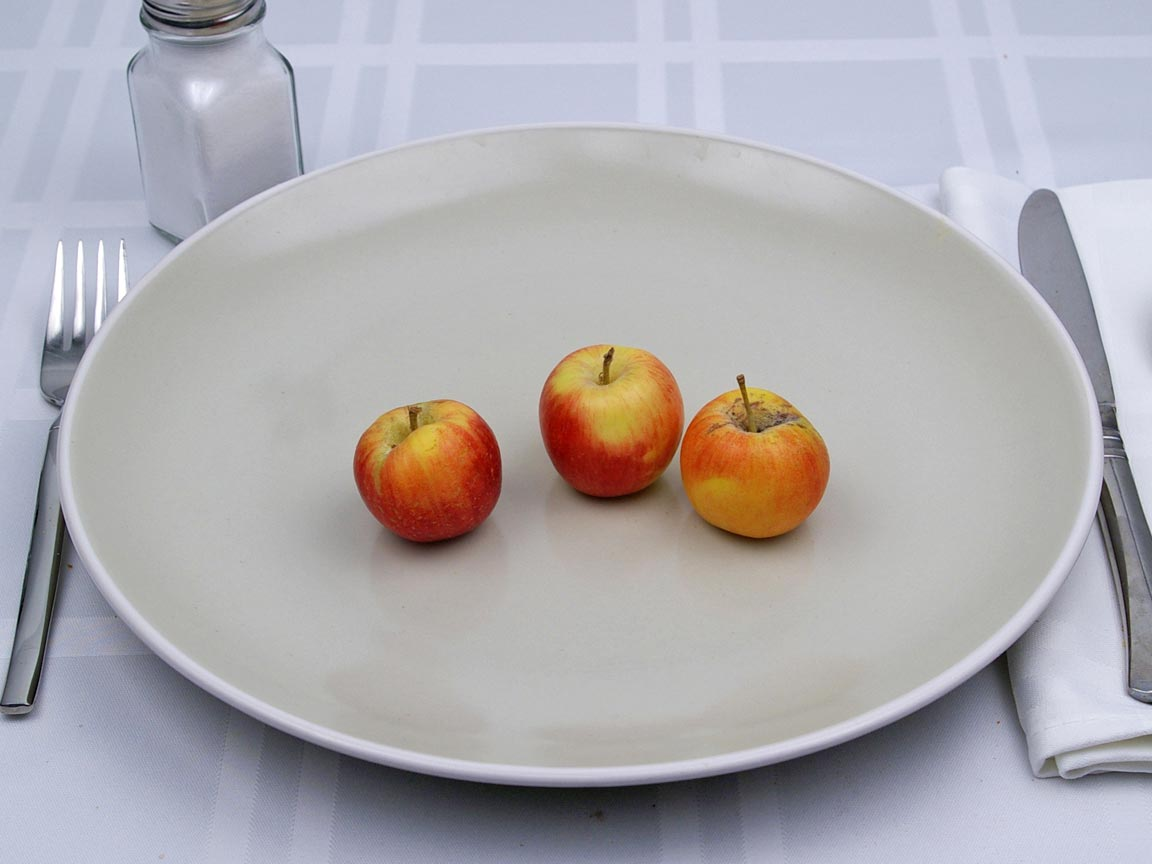 Calories in 3 apple(s) of Crabapples